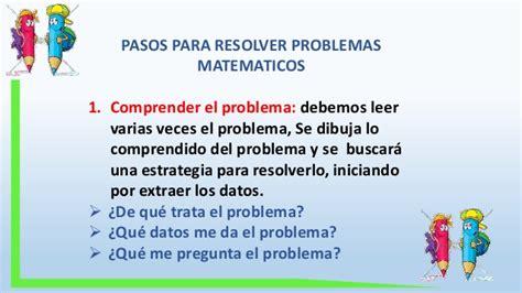Diapositivas Problemas Matematicos