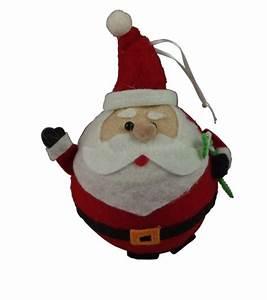 Gisela Graham Christmas Decoration - Felt Ball Santa