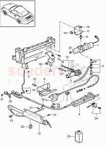 Porsche 996 561 933 01  Engine  Convertible Top Compartm