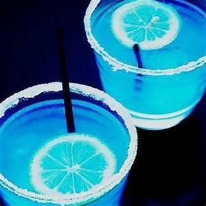 Neon Blue Drinks neon blue Pinterest