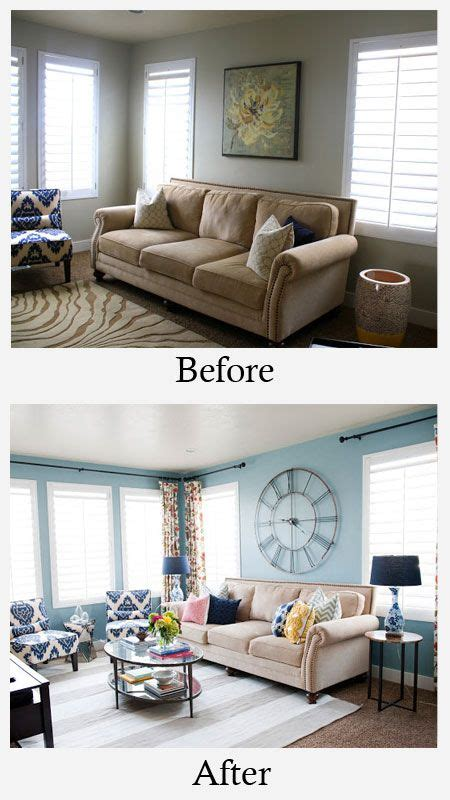 Living Room Paint Makeovers by Living Room Makeovers On Brown Wood
