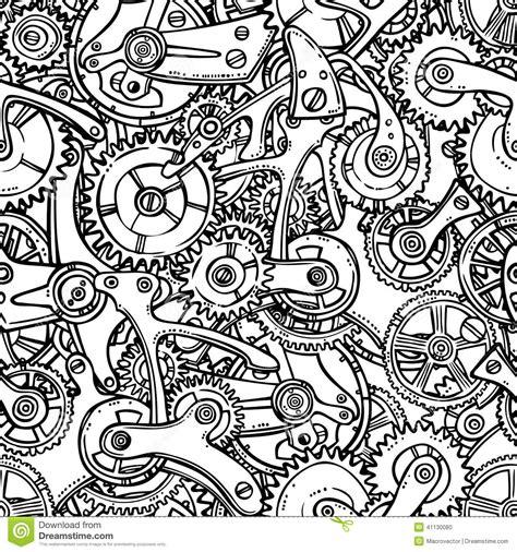 gears lightbulb sketch stock vector illustration