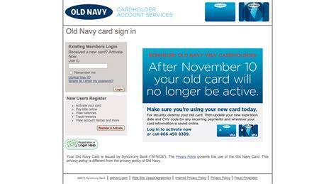 Old Navy Visa Credit Card Login