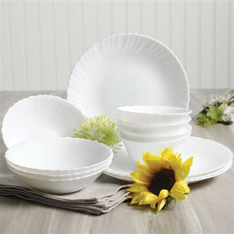 glass dinnerware tempered opal gibson bowl double piece radley