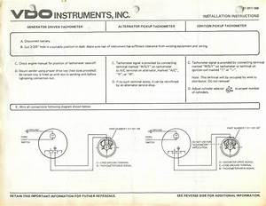 Vdo Gauge Wiring Diagram Tachometer  Vdo  Free Engine