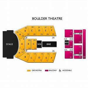 Vivid Seats Seating Chart Boulder Theater Tickets Boulder Theater Information
