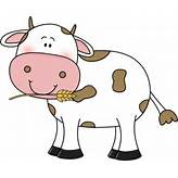 Cow clipart vector cute simple outline - ClipartFest