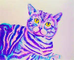Trippy Alice Wonderland Cheshire Cat Drawing