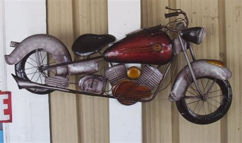 40 Inch Metal Motorcycle Wall Art 5 Limited Supply