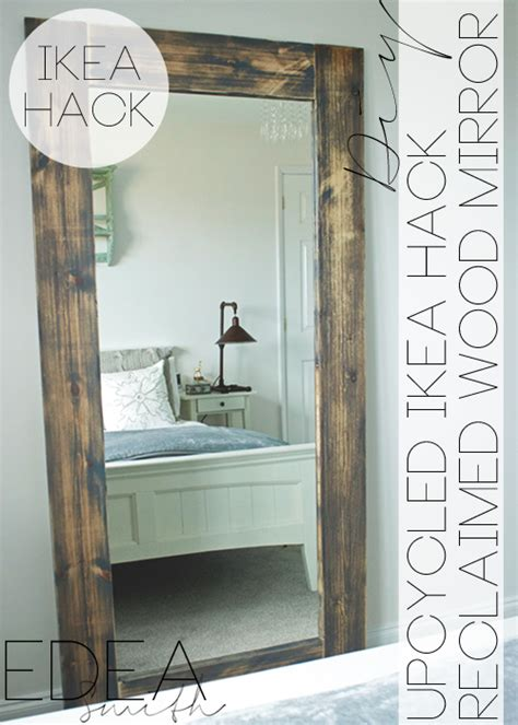diy upcycled ikea hack mirror frame with plans
