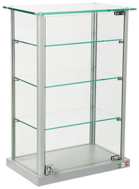 Countertop Display Cases - glass countertop display locking hinged doors