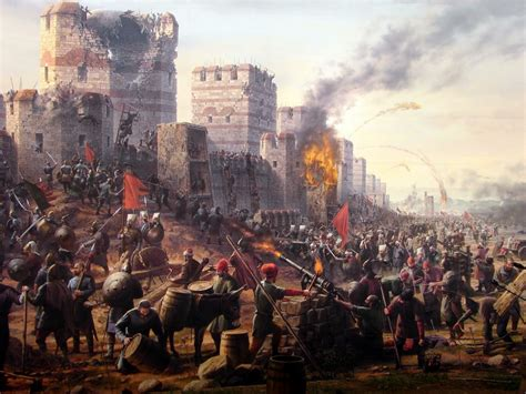 Siege Of Constantinople  Medieval Siege Pinterest