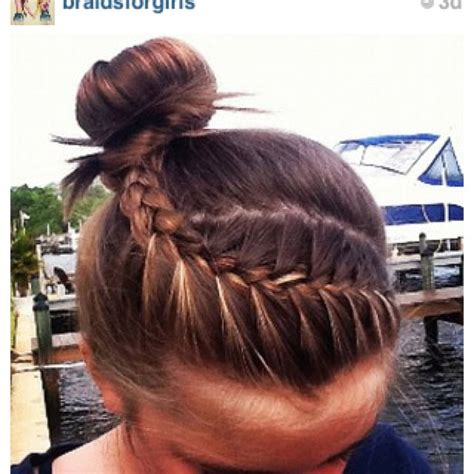 Ballet Hairstyles For by Tight Braid Into Ballet Bun Hair Nails And Hair
