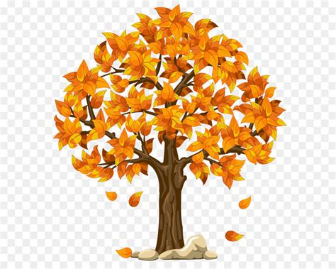 Autumn Tree Leaf Fall Animated Wallpaper - autumn tree clip transparent fall orange png clipart