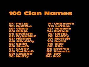 Clan Name Ideas Doovi