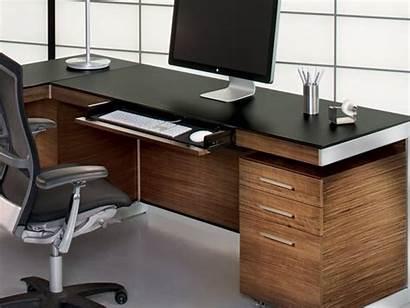 Desk Computer Office Bdi Sequel Modern Walnut