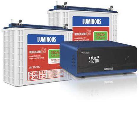 Luminous 1700 Inverter+150AH Double Battery Combo Price
