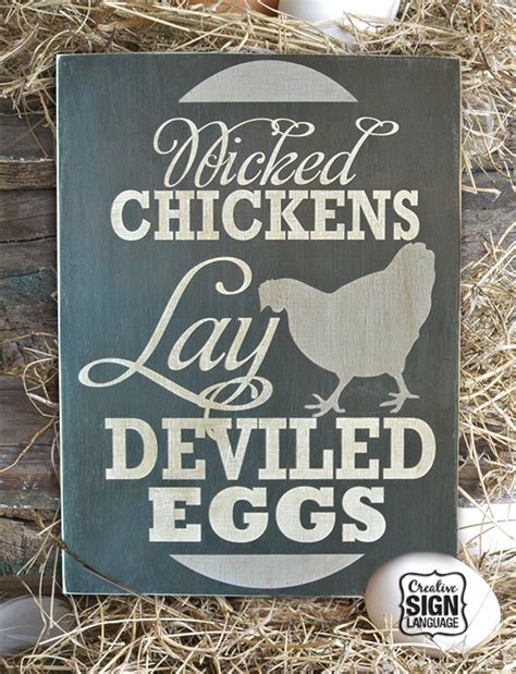 wicked chickens lay deviled eggs painted