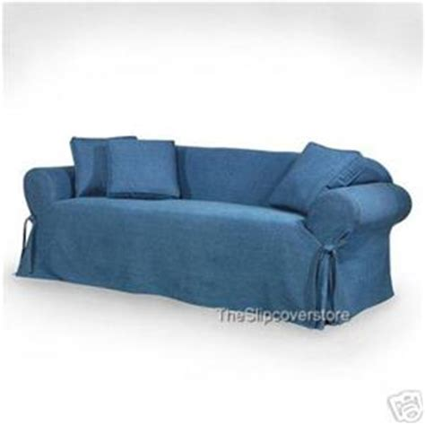 blue jean denim sofa new blue jean denim like sofa loveseat slipcovers ebay