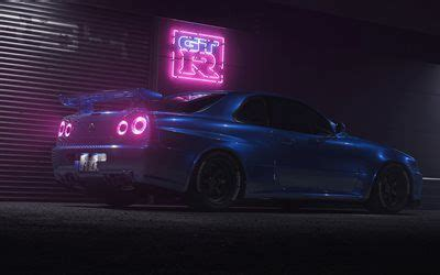 Find the best nissan skyline gtr r34 wallpaper on getwallpapers. Download wallpapers 4k, Nissan GT-R, night, R34, supercars, Nissan Skyline, blue GT-R, tuning ...