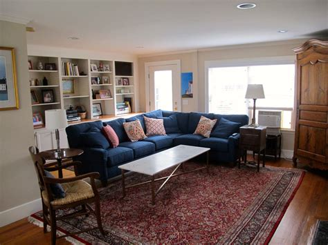 I Love This Blue Sofa With The Red Persian Rug. Living Pine Tv Stands And Cabinets Cost Of Having Kitchen Professionally Painted 2 Drawer Base Cabinet Vintage Pulls Garage Cheap Grey Paint Red Bar Plans