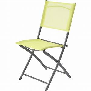 Chaise Leroy Merlin : chaise de jardin en acier denver vert leroy merlin ~ Melissatoandfro.com Idées de Décoration