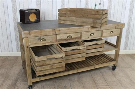 vintage kitchen island zinc top kitchen island large reclaimed pine kitchen 3218