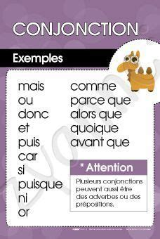 Conjonctions | Basic french words, Learn french, French words
