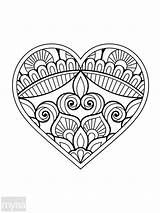 Coloring Adult Colouring Pages Simple Designs Adults Books Easy Printable Heart Myria Para Inside Relaxing Mandala Letter Colorear Corazon Samples sketch template
