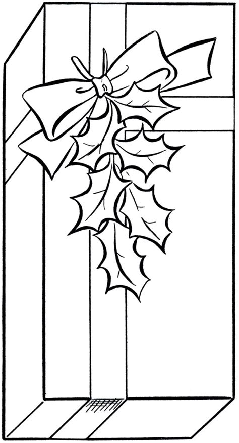 holiday gift clip art image coloring page  graphics fairy