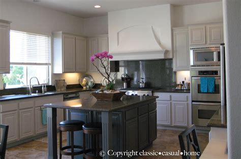 classic casual home painted kitchen cabinets