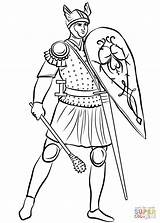 Medieval Coloring Pages Soldier Roman Drawing Soldiers Printable Sheet Knights Mace Adults Helmeted Middle Ages Armored Knight Renaissance Games Version sketch template
