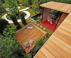 Moderne Gartengestaltung Mit Holz : 103 beispiele f r moderne gartengestaltung ~ Eleganceandgraceweddings.com Haus und Dekorationen