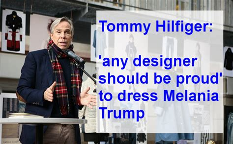 with melania siege from the left hilfiger says he