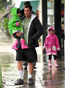Adam Sandler Takes His Daughters Out For Lunch In Santa Monica