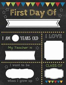 how to create your own editable first day of school signs With first day of school sign template