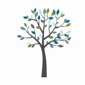 Blue and Grey Tree Decal For Nursery For Kids