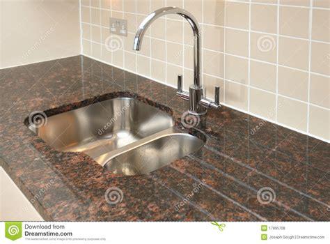 marble kitchen sink top kitchen sink with granite worktop stock photo image