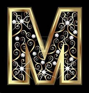 m gold letter with swirly ornaments stock photo for dd With gold letter ornaments