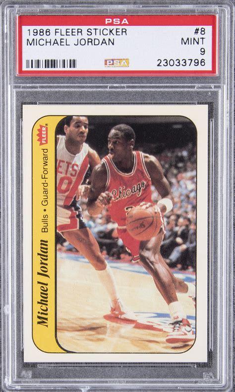 Michael jordan 1986 fleer rookie bulls #57 bccg 9 centered. Lot Detail - 1986/87 Fleer Sticker #8 Michael Jordan Rookie Card - PSA MINT 9