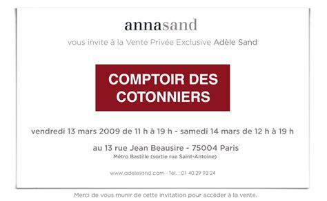 Comptoir Des Cotonniers Bastille by Comptoir Des Cotonniers Vente Priv 233 E Les 13 14 Mars