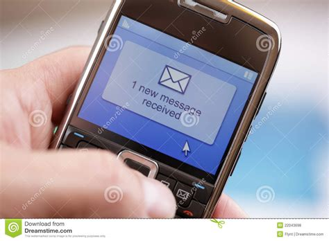 Free Mobile Text Message by Mobile Phone Text Message Or E Mail Stock Photo Image Of