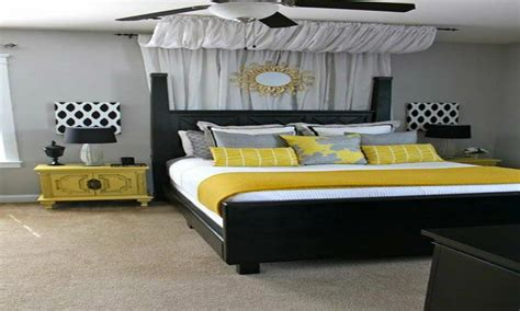 master bedroom bedding yellow  gray bedroom decorating
