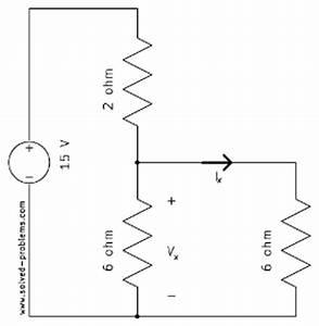 voltage divider voltage division rule solved problems With voltage divider