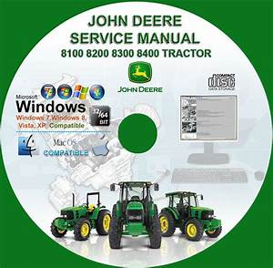 John Deere 8100 8200 8300 8400 Tractors Service Repair