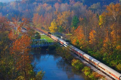 fall foliage train ride  ohio   cuyahoga valley