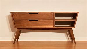 Designing and Building A Modern Credenza - Woodworking