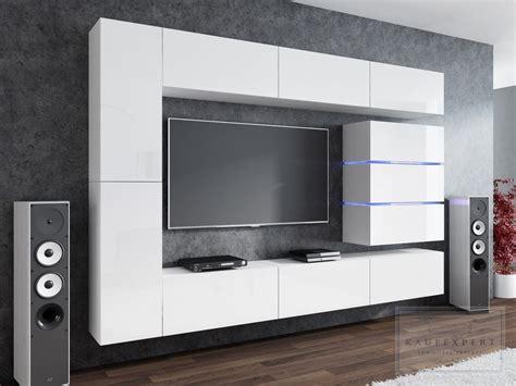 Besonderer wert sollte auf die qualität der ware gelegt werden, denn keine sterbensseele hat design: KAUFEXPERT - Wohnwand Shine Weiß Hochglanz 284 cm ...