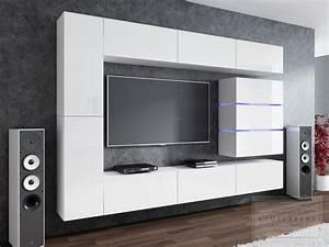 Tv Wand Modern : kaufexpert wohnwand shine wei hochglanz 284 cm ~ Michelbontemps.com Haus und Dekorationen