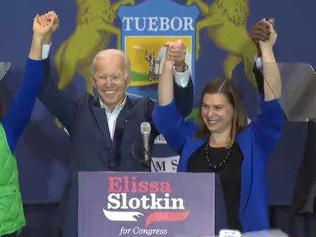 whmi  local news slotkin endorses biden  president